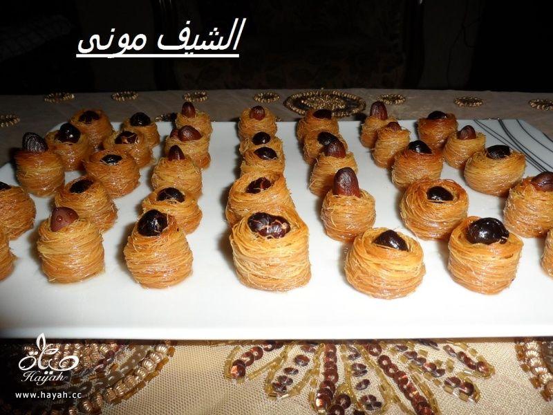 كنافة عش البلبل(أساور)صغيرة ومتساوية زى المحلات من مطبخ الشيف مونى بالصور hayahcc_1375532264_639.jpg