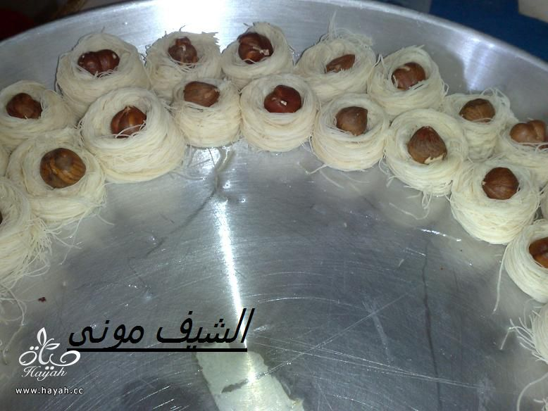 كنافة عش البلبل(أساور)صغيرة ومتساوية زى المحلات من مطبخ الشيف مونى بالصور hayahcc_1375532267_947.jpg