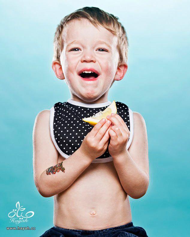 اطفال یتذوقون اللیمون hayahcc_1377010871_403.jpg