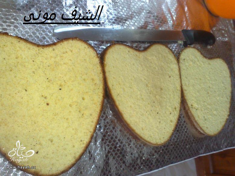 تورتة السبت ووردات الفوندان الملونة من مطبخ الشيف مونى بالصور hayahcc_1398602837_249.jpg