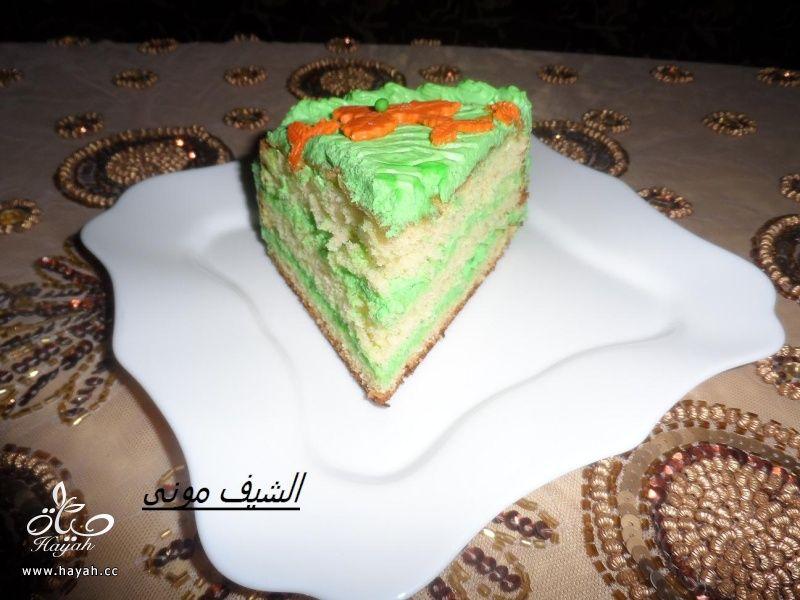 تورتة السبت ووردات الفوندان الملونة من مطبخ الشيف مونى بالصور hayahcc_1398602846_526.jpg