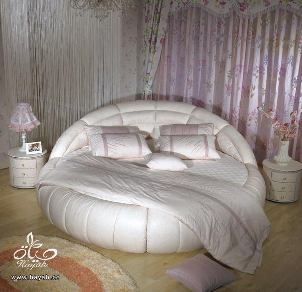 سراير لغرف النوم دائرية  , سراير بيضاء اللون hayahcc_1410440615_807.jpg