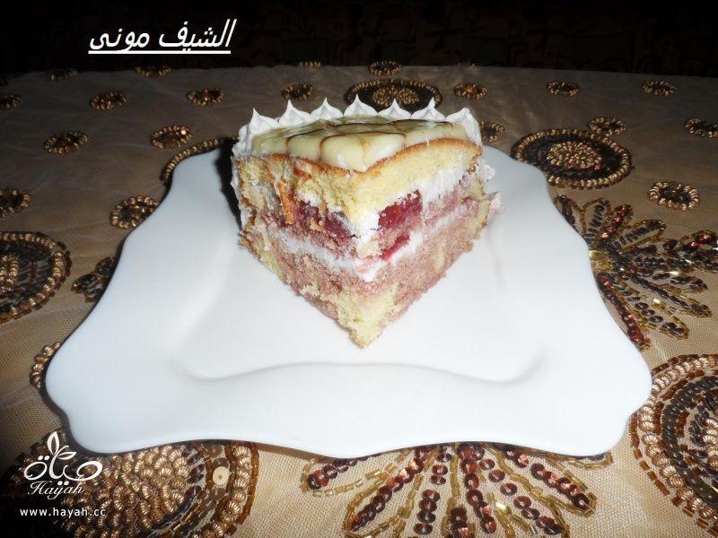 تورتة بصوص الشوكولاته البيضاء والفراولة للمبتدئات من مطبخ الشيف مونى بالصور hayahcc_1415353890_114.jpg