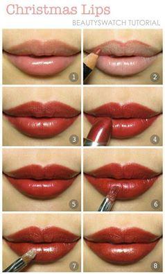 كيف ترسمين شفاهك بالأحمر و الوردي بالصور hayahcc_1421345524_383.jpg