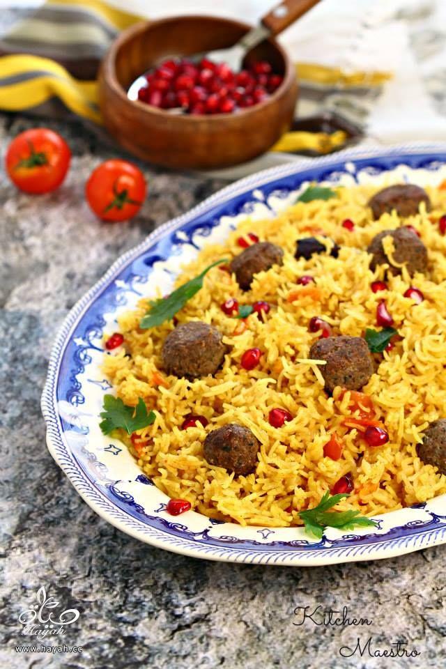 كرات الكفتة مع دبس الرمان والأرز المبهر hayahcc_1425197359_163.jpg