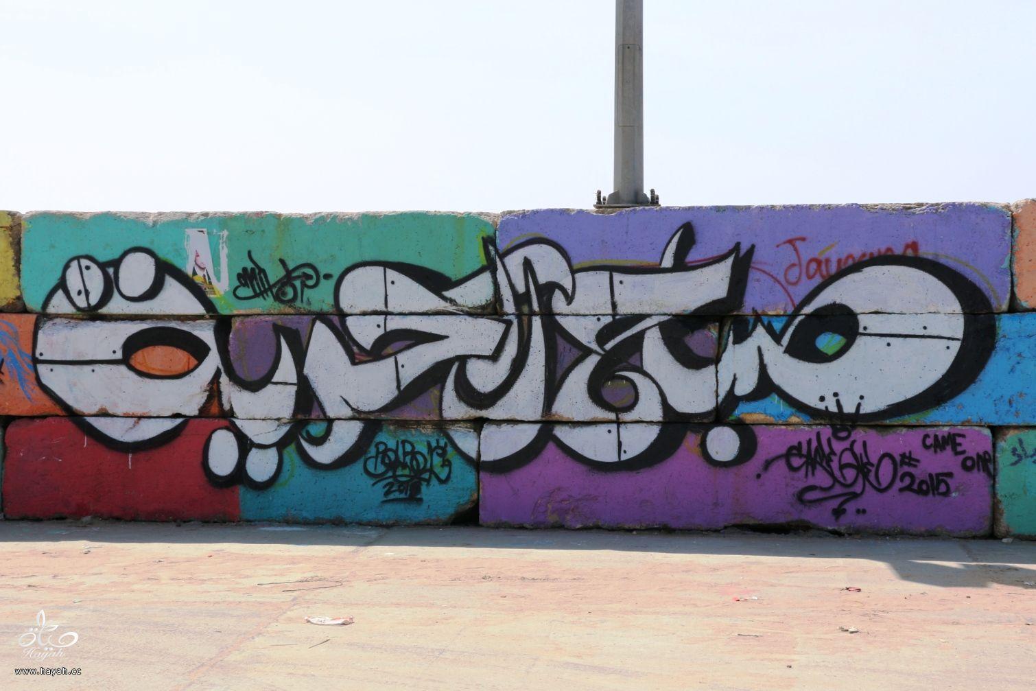 لوحات فنية تزين ميناء غزة المتهالك hayahcc_1428485964_363.jpg