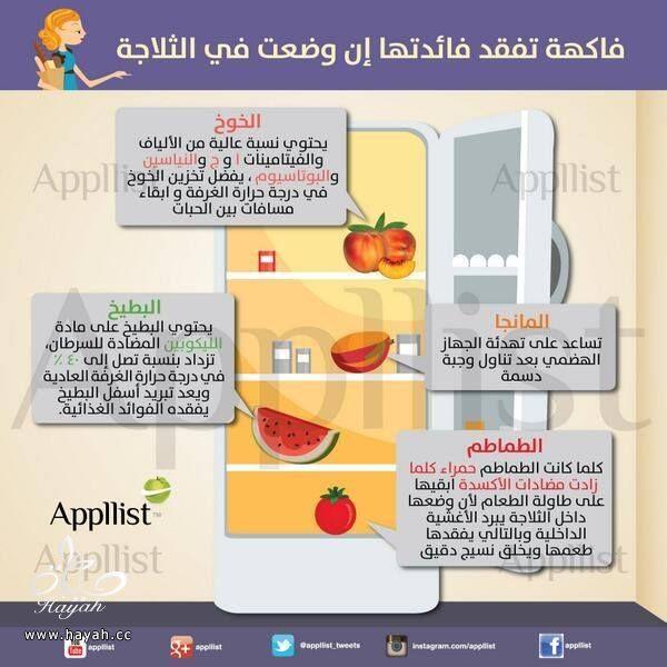 تعرفي على الفاكهة التي تفقد قيمتها في الثلاجة hayahcc_1429778671_169.jpg