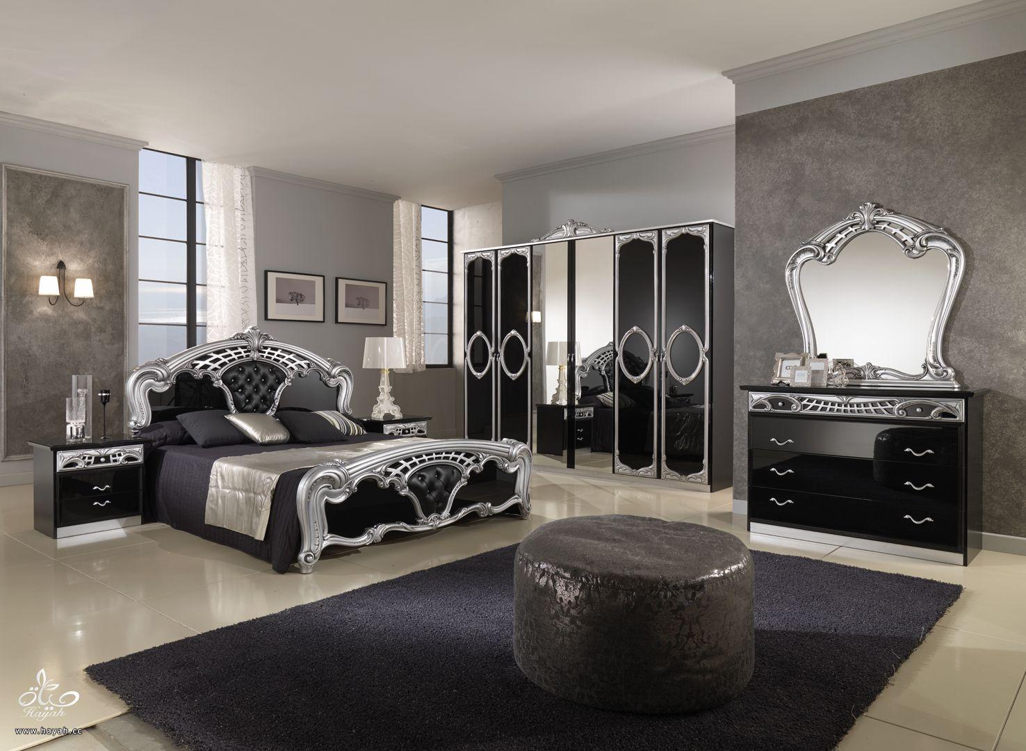 غرف نوم رقيقة - غرف مودرن باللون الاسود والابيض hayahcc_1431935925_620.jpg
