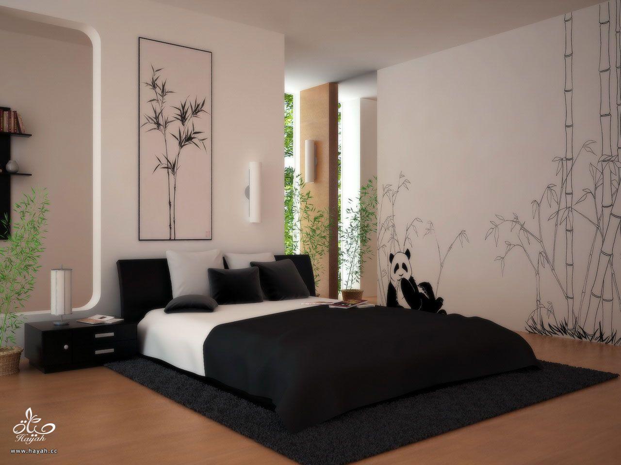 غرف نوم رقيقة - غرف مودرن باللون الاسود والابيض hayahcc_1431935989_770.jpg