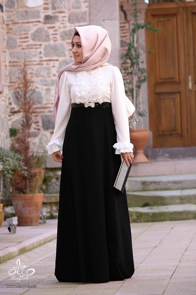 مجموعه من الفساتين الكلاسيك للمحجبات hayahcc_1440333396_673.jpg