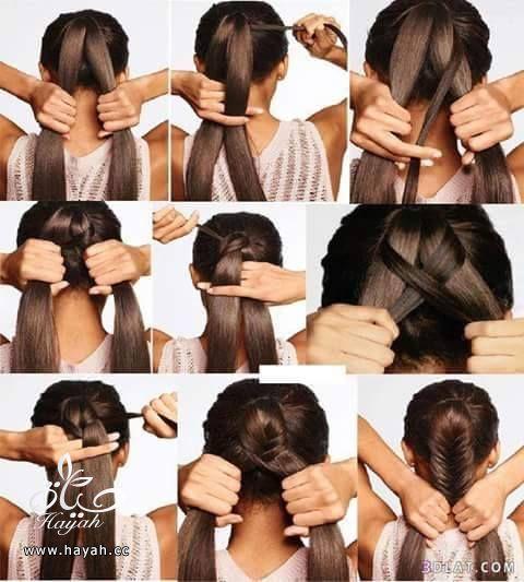 تشكيله كبيره من تسريحت الشعر باسهل واسرع طريقه hayahcc_1440564416_544.jpg