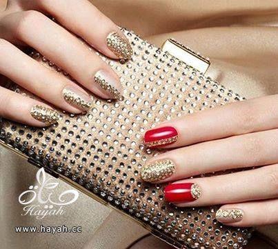 طلاء أظافر العروس رومنسي و جميل hayahcc_1440633144_232.jpg
