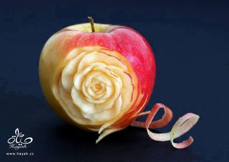 تفاح مقطع بطريقة فنية hayahcc_1442747649_298.jpg